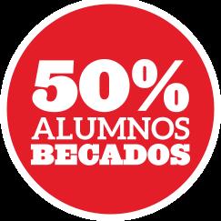 50% de alumnos becados
